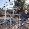 Replica Jungle Gym from 'The Birds' Installed at Shambala