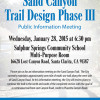 Jan. 28: Weigh In on Sand Canyon Trail Design