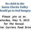 May 9: USPS Letter Carriers Collecting for SCV Food Pantry