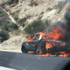Vehicle Fire Ignites Brush in Newhall Pass