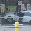 Car Goes through Window at Saugus 7-Eleven