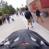 Video Shows Person Tearing Thru Crowded Hart Campus on Motorcycle