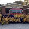 Sand Fire-Fighting Team Says Thanks to Hart District, Golden Valley High