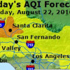 Air Unhealthy for Sensitive Individuals in SCV Monday