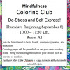 Sept. 8: Coloring Workshops Come to SCV Senior Center