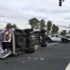 Ambulance Involved in Traffic Collision on McBean Parkway