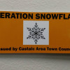 Operation Snowflake Placards for Castaic Residents
