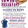 April 22: Cowboy Breakfast to Raise Funds for Bridge to Home