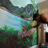 Artist Completes New Mural at Domestic Violence Center