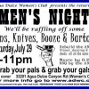 July 29: Men's Night at Agua Dulce Women's Club