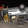 Firefighters Extricate Trapped Person After Early Morning Collision