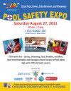Pool Safety Expo 8/27 at Fire Station126