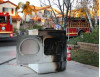 Fire Fighters Stop Dryer Fire from Spreading