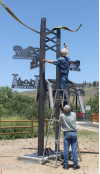 Trailhead Sculpture Points Way to SCV History