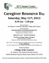 Senior Center to Host Caregiver Resource Day Saturday