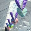 Mall Decked Out in Purple Hearts for Wall Visit