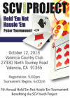 Oct. 12: SCV Youth Project Poker Tournament