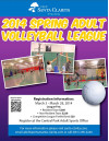 City Adult Basketball, Volleyball Registration Closes March 28