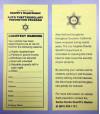 Deputies Yellow-tagging Cars to Warn of Negligence