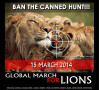 March 15: Tippi Leads Global March for Lions