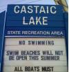 No Swimming at Castaic Lake This Summer