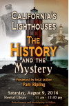 Aug. 9 Author Event: History, Mystery of California Lighthouses