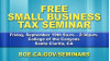 Sept. 19: Runner Hosting Small Business Tax Seminar at COC