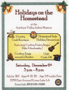 Dec. 6: Country Christmas with Chili, Crafters, Campfire Songs at AV Indian Museum