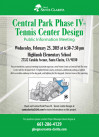 Feb. 25: Public Meeting on Future Tennis Courts at Central Park