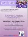 May 9: ACS Relay For Life Celebrates Survivors