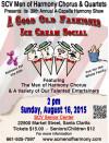 Aug. 16: Barbershop Harmony & Ice Cream