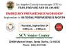 Sept. 24: County Emergency Prep Workshop at SCV Senior Center