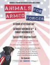 Nov. 14-15: Animals for Armed Forces Event