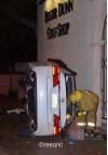 Two Injured in Car Crash, Vehicle Overturned