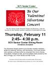 Senior Center to Host Valentine's Concert