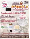 April 19: Annual SCV Charity Chili Cook-off
