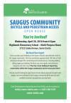 April 20: Saugus Community Bicycle, Pedestrian Access Open House