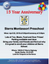 Sierra Montesorri Preschool to Celebrate 15th Anniversary