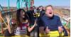 Selena Gomez, James Corden Film 'Carpool Karaoke' at Magic Mountain
