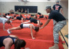 Hart High Cheerleaders Get a U.S. Army Workout