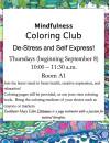 Sept. 8: Coloring Workshops Come to SCV Senior Center