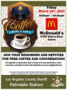 March 10: Enjoy Coffee with a Cop in Acton