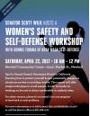 April 22: Women's Safety, Self-Defense Workshop