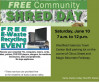 June 10: SCV Sheriff Safe Shred, E-Waste Collection Event