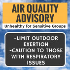 Friday Air Quality Unhealthy for Sensitive People