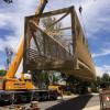 New Pedestrian Bridge on McBean Parkway Set to Reopen Saturday