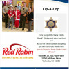 Oct. 19: Tip-a-Cop at Red Robin for Special Olympics SCV