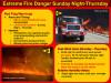 Extreme Fire Danger in SCV Through Thursday