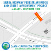 Sierra Highway Pedestrian Bridge Construction to Begin Jan. 29