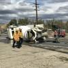 Cement Truck Crashes on Sierra Highway, Spills Fuel